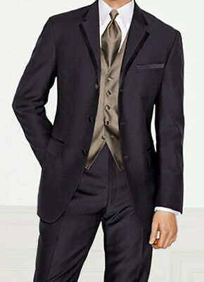 New 40R Black Calvin Klein Magnum Tuxedo Jacket with 32 Waist Flat Front Pants