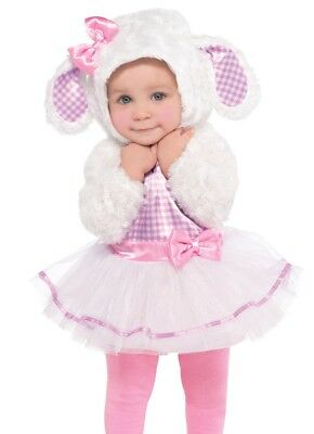 Little Lamb Costume Easter Plush Tutu Dress Childs Baby Toddler - 6-12, 12-24