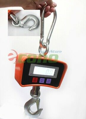500kg 1100 Lbs Digital Hanging Scale Heavy Industrial Crane Scale Wlcd Screen