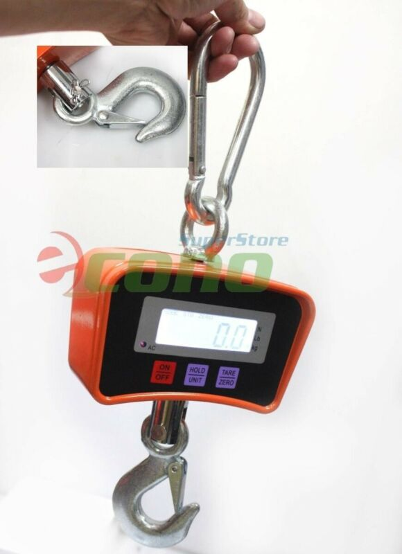 500kg 1100 LBS Digital Hanging Scale Heavy Industrial Crane Scale W/LCD SCREEN
