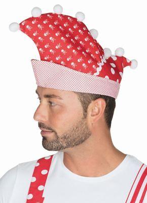 Rub - Kostüm Zubehör Narrenkappe in rot-weiß Fasching Karneval