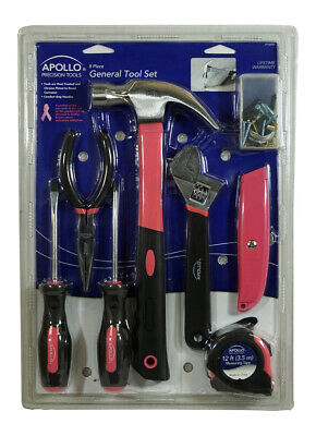 Apollo Precision Tools 8 Piece Tool Set PINK FOR BREAST CANC