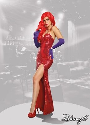Dreamgirl Sexy Starlet Rabbit Jessica Adult Womens Dress Halloween Costume - Jessica Rabbit Dresses