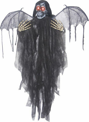 Morris Costumes Hanging Animated Reaper With Wings Decorations & Props. SS80308 - Winged Reaper Halloween Costume