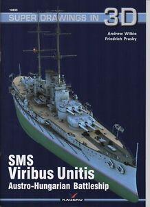 SMS Viribus Unitis Austro-Hungarian Battleship - Super Drawings in 3D - Kagero - <span itemprop='availableAtOrFrom'>Reda, Polska</span> - Zwroty są przyjmowane - Reda, Polska