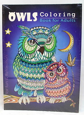 Oceanis Adult and Teen Coloring Book Hoot Owls Bird Theme for Fun and - Fun Crafts For Teens