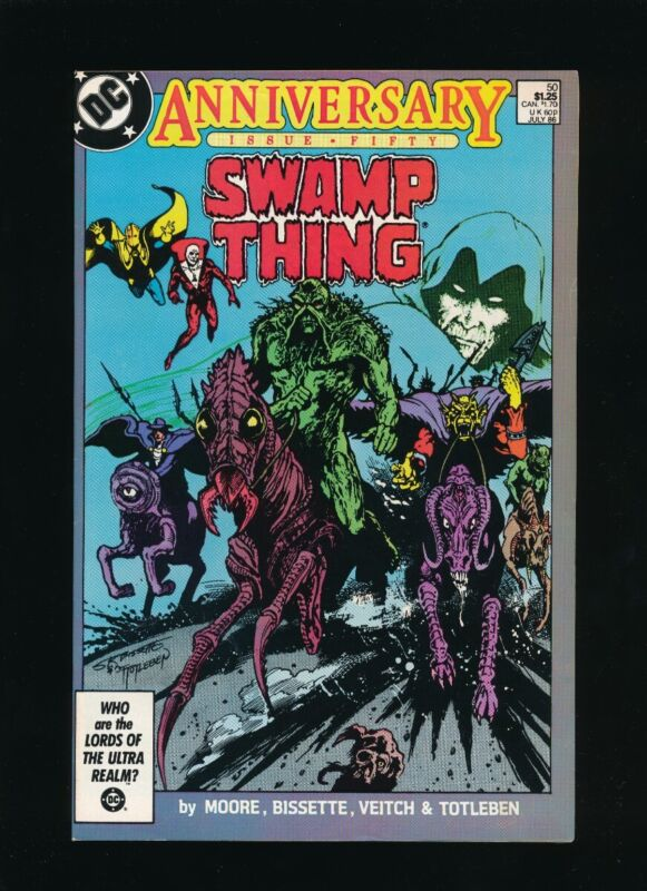SWAMP THING #50 D.C. COMICS 1986 ANNIVERSARY ISSUE 1ST APPEARANCE JUSTICE LEAGUE