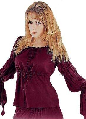 Gothic Mittelalter Larp Bluse Top Anna mit gerafften Ärmeln 36 38 40 Neu - Anna T Shirt Kostüm