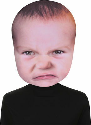 Morris Costumes Baby Angry Face Mask One Size. SE17941