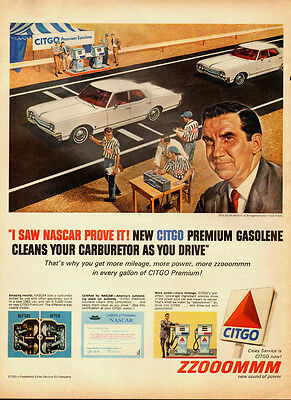 1960's Vintage ad for CITGO`Ed McMahon`Bridgehampton Road Tracks-122913