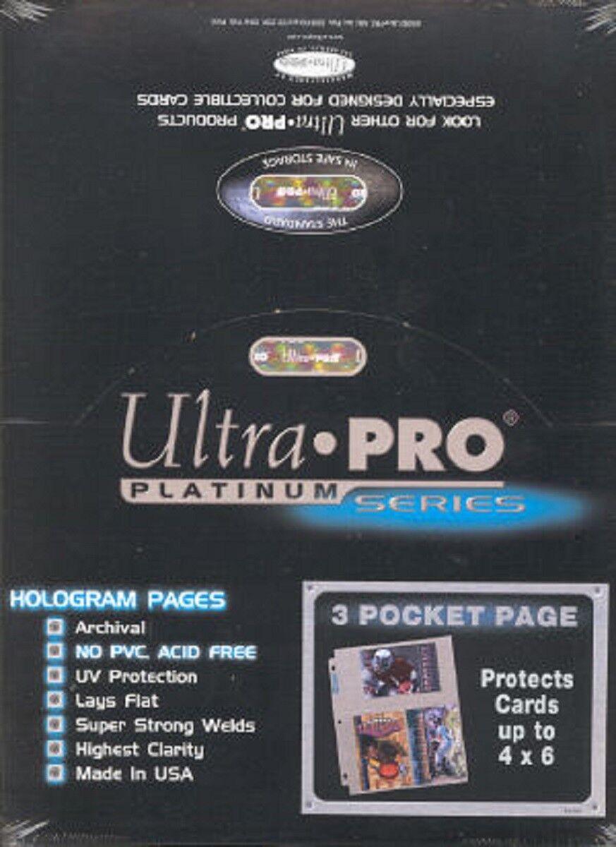 Platinum Pocket And 100 For 3 Hologram Page 4x6 Ultra Photos Pro 45jq3LAR