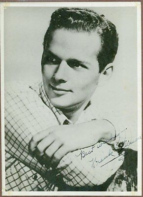 """Frank Latimore, Film and TV Actor, Signed 5"""" x 7"""" Black and White Photo, COA"""