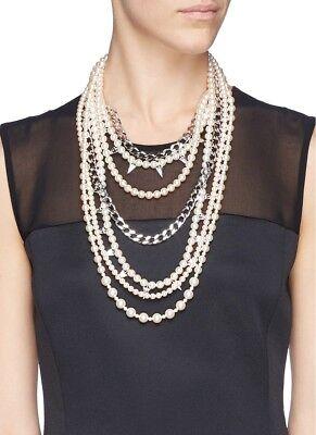 BNIB Joomi Lim Vicious Love Multi Strand Faux Pearl Necklace