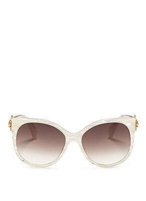 Alexander Mcqueen White Sunray Skull Pearlescent Stripe (Sunray Sunglasses)