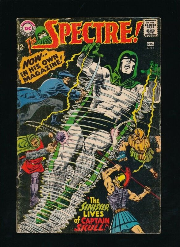 SPECTRE #1 D.C. COMICS 11-12/1967 CAPTAIN SKULL APPEARANCE **UNPRESSED**