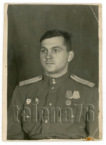 1940s WW2 Soviet Officer Military Man Awards Occupation Latvia Russian Photo