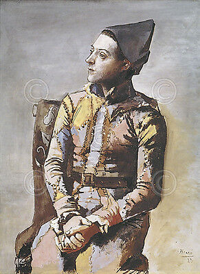 Portrait of a Harlequin by Pablo Picasso Art Print Museum Poster 11x14