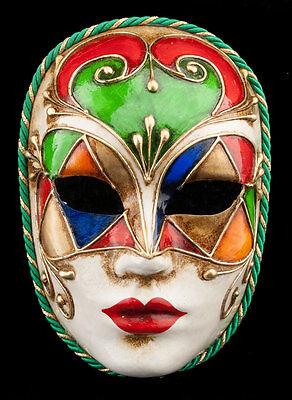 Mask from Venice Face Volto Tutti Red in Paper mache-V20-1888