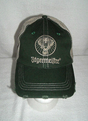 JAGERMEISTER Distressed Look Embroidered Snapback Adjustable Trucker Hat Cap NEW