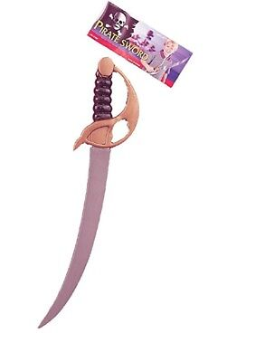 Deluxe Pirate Cutlass Fake Toy Sword Knife Caribbean Weapon Costume Accessory - Fake Swords
