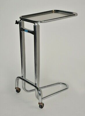 Polar Ware T304 Stainless Steel Medical Instrument Tray Hospital Adj Height Cart