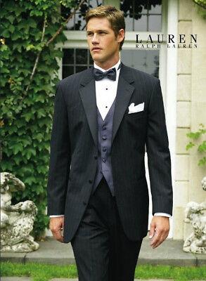 Ralph Lauren Black Starwood Tuxedo Jacket   Pants Discount Prom Tux Free Shirt