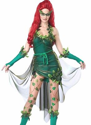 Lethal Beauty Poison Ivy Costume Womens Sexy Adult XS, S, M, L, XL Plus Size