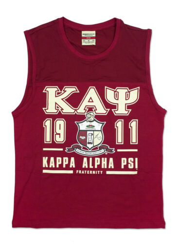 Kappa Alpha Psi Fraternity Tank Top- Crest- Size Large- New!