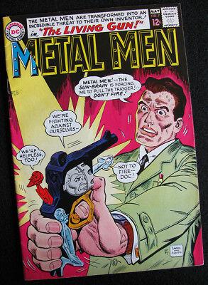 METAL MEN 7 (1964) THE SOLAR BRAIN! METAL MEN HANDGUN! FN+! LARGE, CLEAR PHOTOS!
