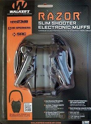 23 Earmuff (WALKER's RAZOR Slim Shooter Low Profile EARMUFFS NRR 23dB GWP-RSEM FAST)