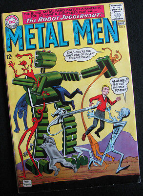 METAL MEN 9 (1964) PLAYGROUND OF TERROR CONTINUES! FN-! LOTS OF LARGE PHOTOS!