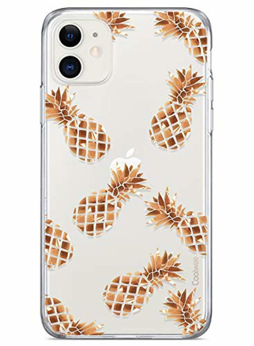 Coolwee Iphone 11 Case Rose Gold Pineapple Floral Case For Women Girl Men Foil C Ebay