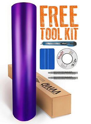 purple chrome satin matte car wrap vinyl 30M x 1.52M VViViD9 + free tools