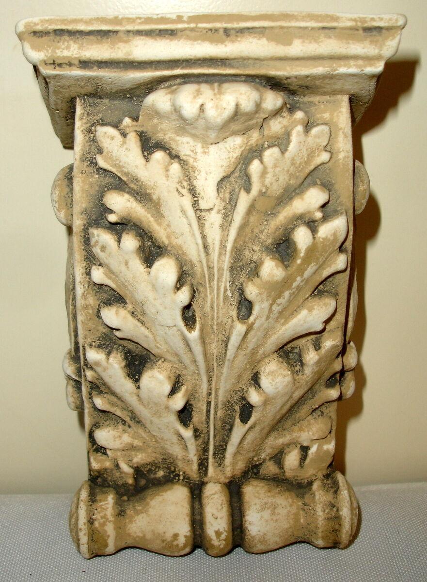 ANTIQUE FINISH SHELF Acanthus leaf plaster Wall Corbel Sconce ...