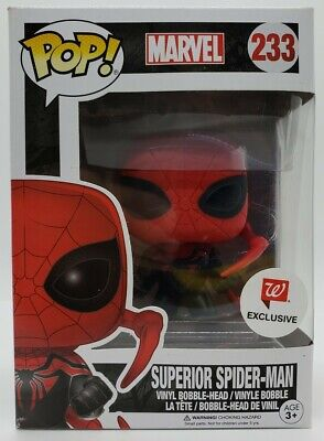 Funko Pop! Marvel Walgreens Exclusive Superior Spider-Man w/ Pop Protector