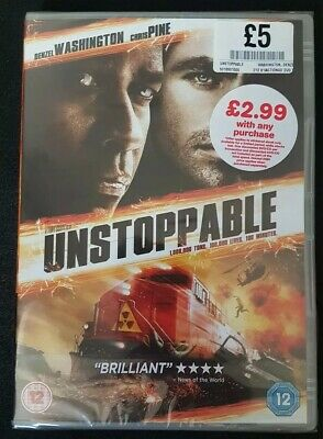 Denzel Washington Unstoppable dvd - brand new sealed packaging rated 12 - (Unstoppable Rating)