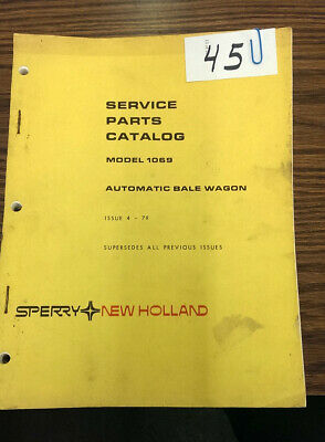Sperry New Holland Service Parts Cat Model 1069 Automatic Bale Wagon 4-79