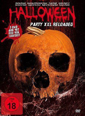 8er HALLOWEEN PARTY XXL Living Dead ZOMBIE NIGHT Vampire Hunter FRIGHT DVD Box ()