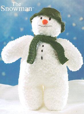 "Snowman Toy ~ Xmas 16"" High/41cm Chunky Snowflake  Knitting Pattern"