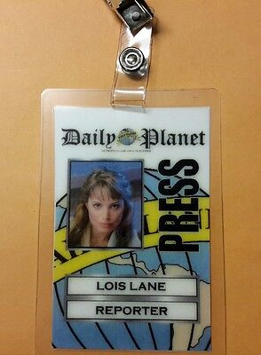 Superman Smallville ID Badge - Lois Lane Reporter costume prop cosplay - Superman Lois Lane Costume