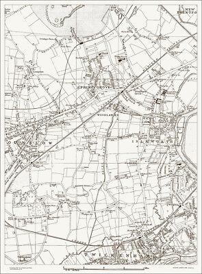 Isleworth Hounslow Spring Grove Map 1888 Gtr London #23