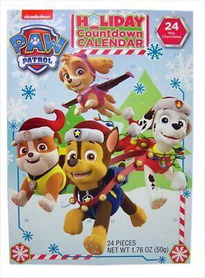 Lot of 2 Packs PAW Patrol Christmas Advent Countdown Calendar 24 Milk Chocolates