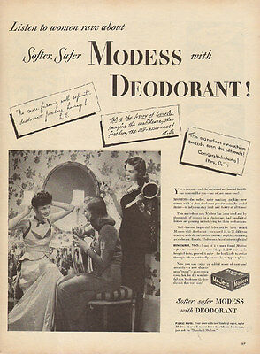 1945 vintage AD MODESS with Deoderant  feminine protection kotex  061115