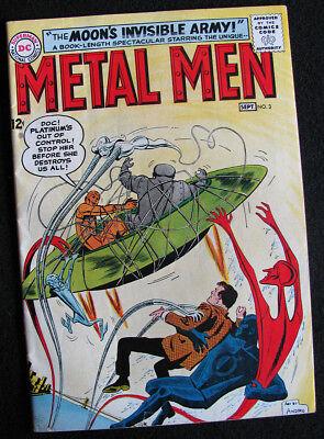 METAL MEN 3 (1963) ENTER THE NEW PLATINUM! NICE FN-! LOTS OF LARGE PHOTOS!