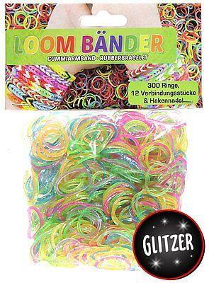 2400 Loombänder Glitzer Funkel Gummibänder Band Loom 2504 tlg.