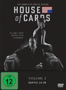HOUSE OF CARDS DIE KOMPLETTE ZWEITE SEASON VOLUME 2 DVD NEU OVP KEVIN SPACEY