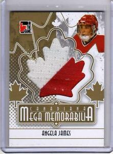 ANGELA-JAMES-11-ITG-Canadiana-Mega-Memorabilia-Jersey-GOLD-SP-10-Team-Canada