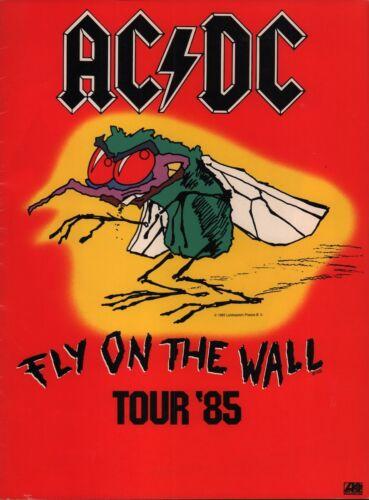 AC/DC 1985 FLY ON THE WALL U.S. TOUR CONCERT PROGRAM BOOK / BON SCOTT / VG 2 EX