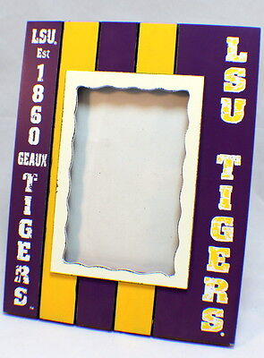 Lsu Tigers Collegiate Licensed Wooden Photo Picture Frame 4