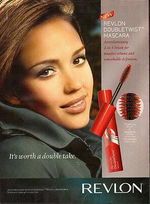 2009 Print Ad Revlon  Jessica Alba  Doublewist Mascara (071013)